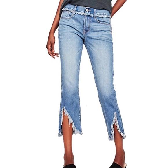 59772e5fa487c5 Express Denim - EXPRESS   Mid Rise Cropped Skinny Jeans sz 00